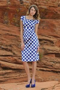 Zoe Blue and White Polka Dot Dress