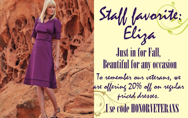 Veteran's Day Sale 20% off Dresses