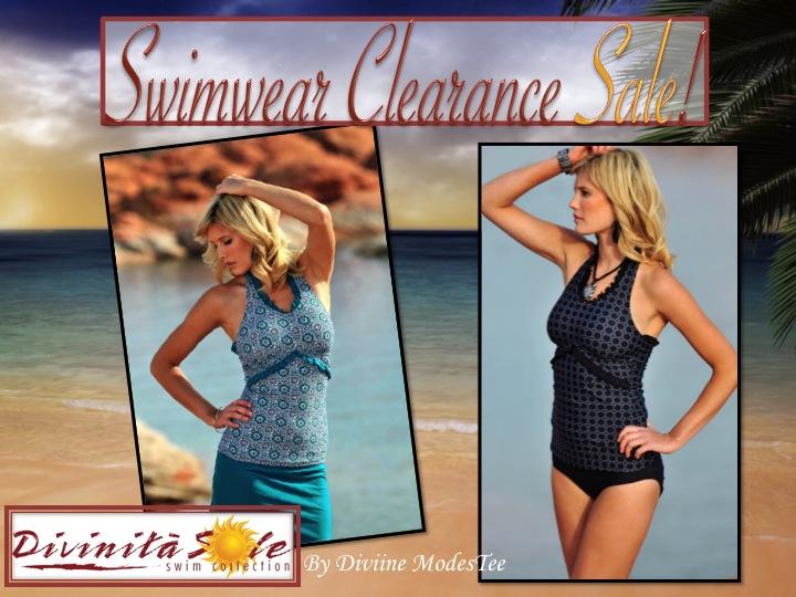 swim clearance sale, divinita sole swimwear, diviine modestee swimwear, women's swimwear, modest swimsuits