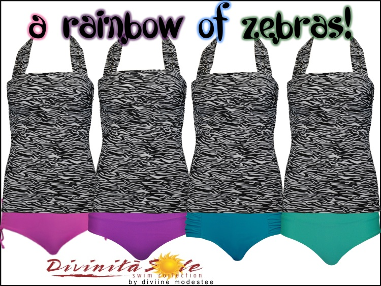 zebra-print swimsuit, zebra tankini, zebra print