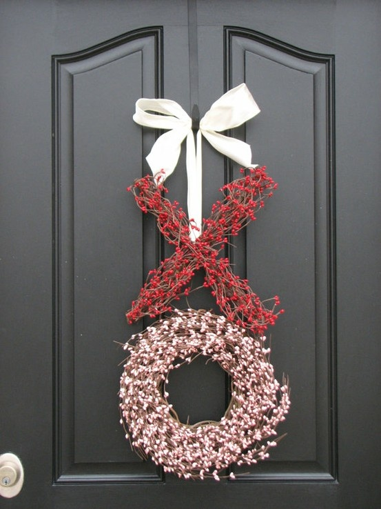 valentines wreath,