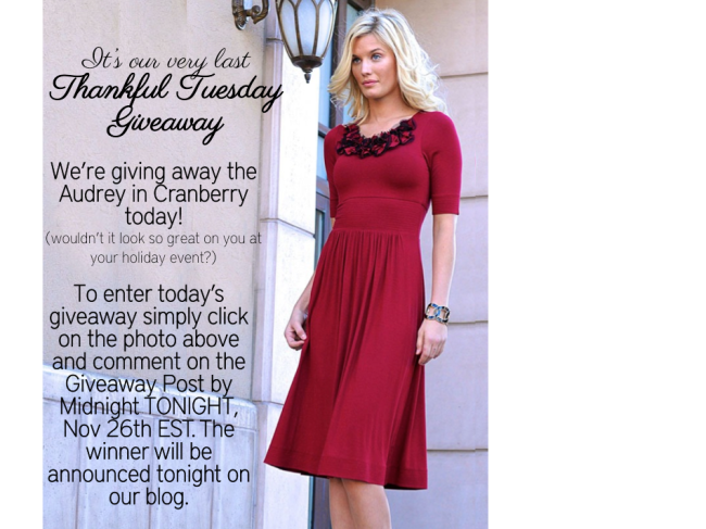 Thankful Tuesday Giveaway